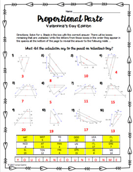 Geometry Valentine's Day Activity - Proportional Parts