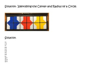 Geometry VersaTiles/Card Sort Center and Radius from Equations of Circles
