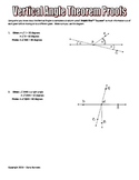 Geometry: Vertical Angle Theorem Proofs