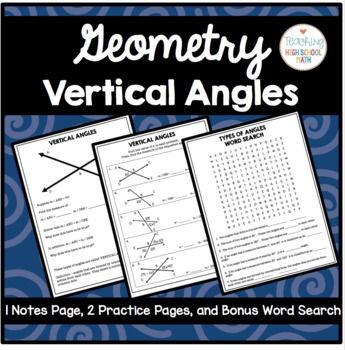 Geometry Vertical Angles