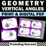 Vertical Angles Task Cards, 7th Grade Math Distance Learning Scavenger Hunt Game