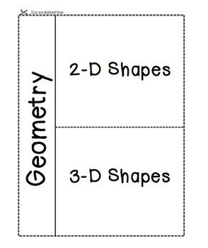 Geometry Vocab Foldable