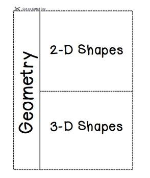 Geometry Vocab Foldable