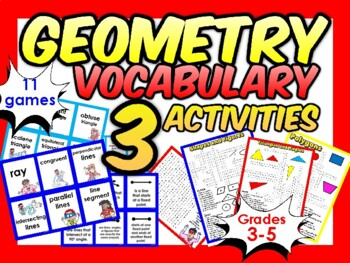 Geometry Vocab Match Game - gr 2-5