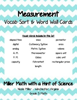 Geometry Vocab Sort and Word Wall Cards