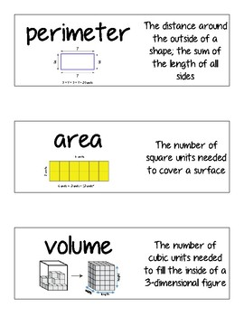 Measurement Vocab