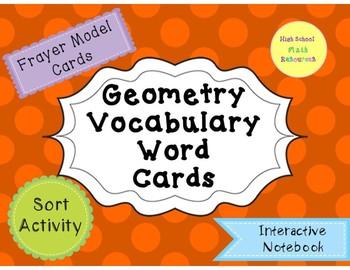 Geometry Vocab Word Cards
