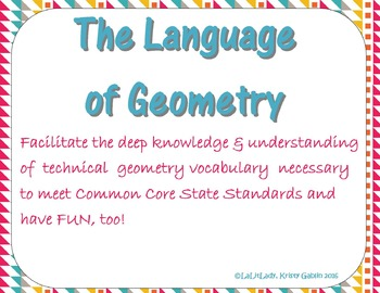 CCSS Geometry: Interactive Vocabulary Notebooks (Print & Digital), Games, & More