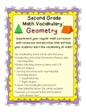 Geometry Vocabulary Activities and Resources for Second Grade