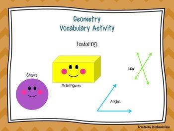 Geometry Vocabulary Activity