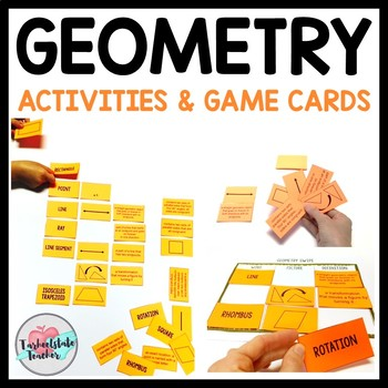 Geometry Vocabulary BUNDLE: Activities, Games, Study Cards, Word Wall