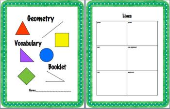 Geometry Vocabulary Booklet