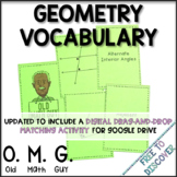 Geometry Vocabulary Card Game