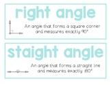 Geometry Vocabulary Cards English/Spanish