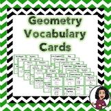 Geometry Vocabulary Cards Grades 3-5