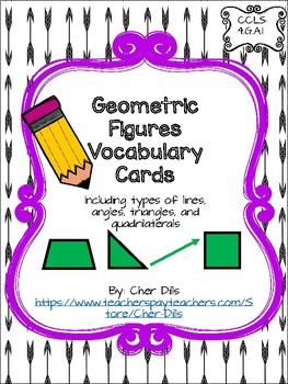 Geometry Vocabulary Cards with Differentiation Included