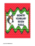 Geometry Vocabulary Christmas Puzzle