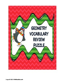 Geometry Vocabulary Christmas Puzzle