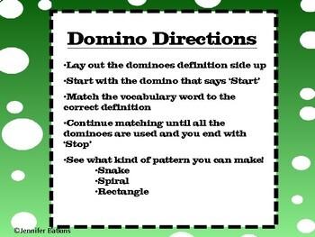 Geometry Vocabulary Dominoes