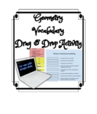 Geometry Vocabulary Drag and Drop Distance Learning Activity