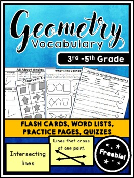 Geometry Vocabulary FREEBIE