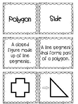 Geometry Vocabulary Flash Cards
