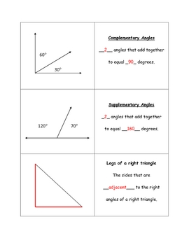 Geometry Vocabulary Flashcards