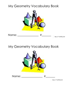 Geometry Vocabulary Flip Book