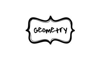 Geometry Vocabulary Flip Charts