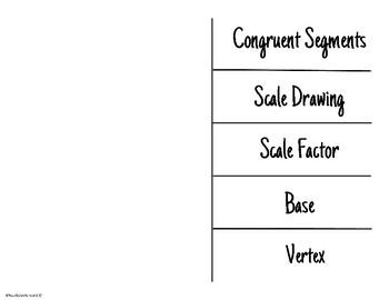 Geometry Vocabulary Foldable