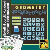 Geometry Vocabulary Game with Bulletin Board Option Included