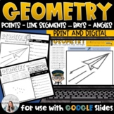 Geometry Vocabulary Guided Drawing: Points Line Segments R