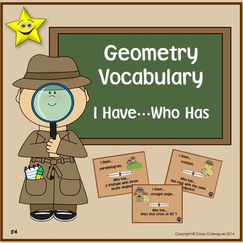 Geometry Vocabulary I Have Who Has
