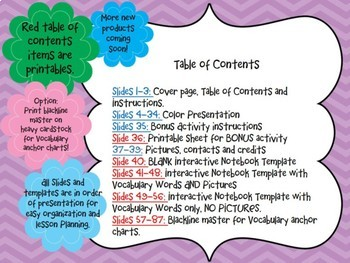 Geometry Vocabulary Interactive Journal and Activity