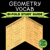 Geometry Vocabulary: Interactive Study Guide Foldable