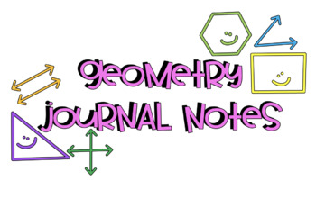 Geometry Vocabulary Journal Notes