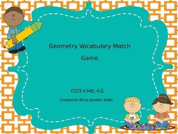 Geometry Vocabulary Match