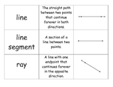 Geometry Vocabulary Match Game