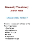 Geometry Vocabulary Match Mine (Kagan)