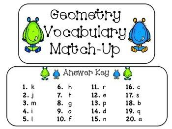 Geometry Vocabulary Match-Up