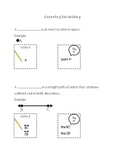 Geometry Vocabulary Notes- Point, Line, Line Segment, Ray