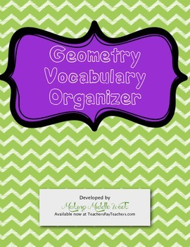 Interactive Geometry Vocabulary Organizer with Drawing Space