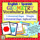 Geometry Vocabulary Games and Activities Bundle