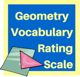 Geometry Vocabulary Rating Scale