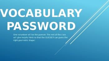Geometry Vocabulary Password Slideshow