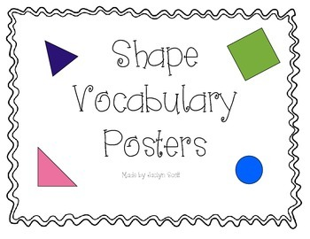 Geometry Vocabulary Posters