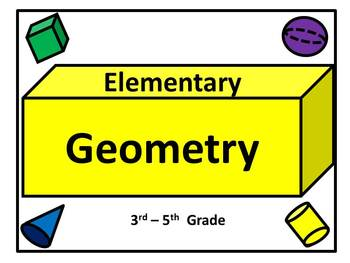 Geometry Vocabulary Posters for 3rd - 5th