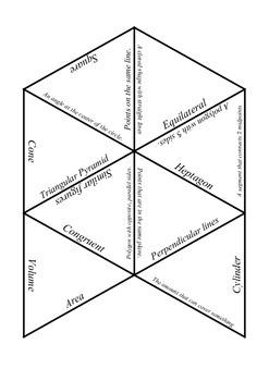Geometry Vocabulary Puzzle