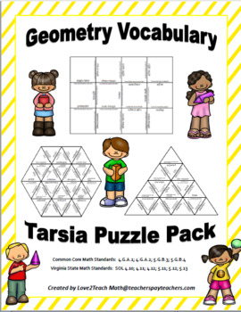 Geometry Vocabulary Puzzle Pack