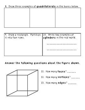 Geometry Vocabulary Quiz